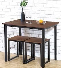 Homury Modern Wood 3 Piece Dining Set Studio ... - Amazon.com