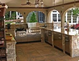 Stone kitchen cabinets with steel doors and handles