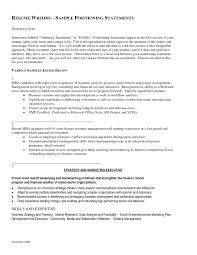 Personal Statement On Resume Resume Examples Of Personal Statements