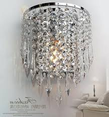 crystal chandelier wall lights bed s wall mounted lights home depot intended for favorite wall mount