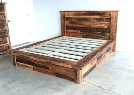 Reclaimed Wood Bed Frame King Full Size Of Reclaimed Wood Cal King ...