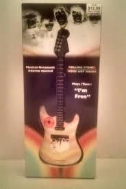 rolling stones collectible al guitar ornament plays i m free divorce gift rollingstones guitars ebay