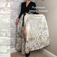 Deanne Skirt Size Chart Lularoe S White Gold Foil Deanne Limited Edition Boutique