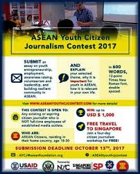asean youth citizen journalism contest win up to usd