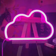Light Neon Pink Decorative Led Cloud Neon Light Neon Night Light Signs Wall