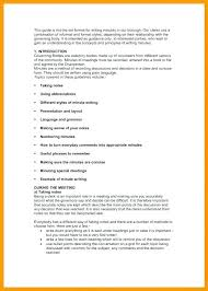 Format For Minutes Writing 15 Minutes Of The Meeting Format Sopexample