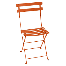 bistro outdoor folding chair in colour carrot from bistro outdoor furniture carrot bistro outdoor folding chair