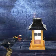 Solar Light Bird Feeder Dropshipping Solar Light Bird Feeder Bird Feeding Station Large Capacity Bird Food Container