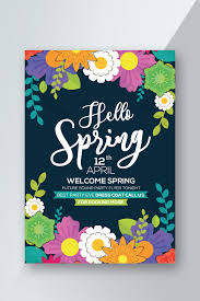 Hello Spring Flower World Flyer Template Template Psd Free
