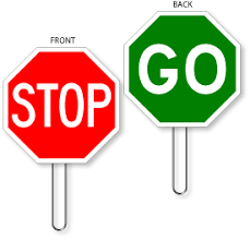 18 Inch Hand Held Stop Signs