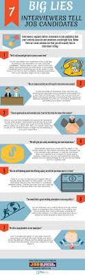 7 Big Lies Interviewers Tell Job Candidates Infographic