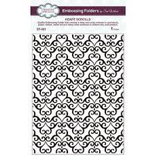 Heart Scrolls Shop Creative Expressions Embossing Folder By Sue Wilson Heart