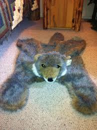 wolf skin rug faux