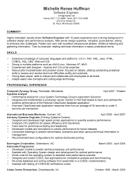 Objective In Resume For Software Engineer Experienced Software Developer Resume Objective Best Resume