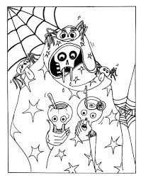 Small Picture Halloween Coloring Pages Online Scary mosatt