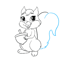 Small Picture How to Draw a Cartoon Squirrel in a Few Easy Steps Easy Drawing