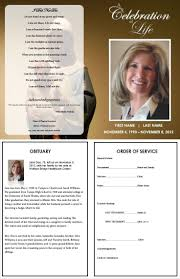 Obituary Program Template 24 best Printable Funeral Program Templates images on Pinterest 1