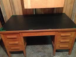 old goverment desk solid wood