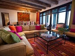 Brilliant Mexican Interior Design Blue Sofa In A Mexican Home Interior  Spanish Style Decorating