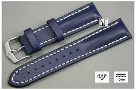 blue heavy calf hirsch watch bracelet waterproof