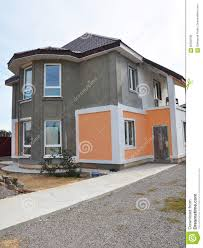 Painting And Plastering Exterior Stucco House Wall Facade Thermal