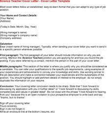 Cover Letter Science Teacher Costumepartyrun