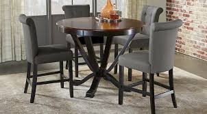 black counter height table and chairs astounding orland park 5 pc dining set room home interior