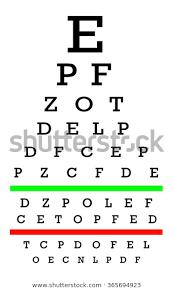 Eyesight Number Chart Eyesight Concept Test Chart Letters Getting Stock