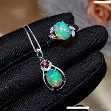 2019 <b>Shilovem</b> 100% <b>925 Silver Sterling</b> Real Natural Opal ...