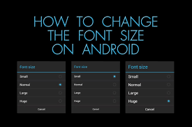 change text size how to change the font size on android the blind life youtube