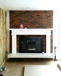 marvelous painted brick fireplace colors painting our red brick fireplace white fireplaces mantels living room ideas