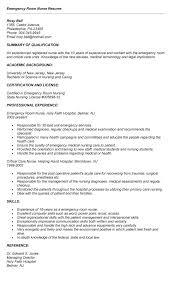... Trendy Design Er Nurse Resume 11 Emergency Room Nurse Cover Letter  Example ...