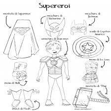 Disegno Da Colorare Bambini Gratis Eroi Supereroi Fumetti Con Con