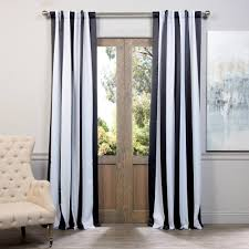 exclusive fabrics furnishings semi opaque awning black and white stripe blackout curtain 50