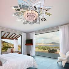 3d pvc mirror ceiling wall stickers