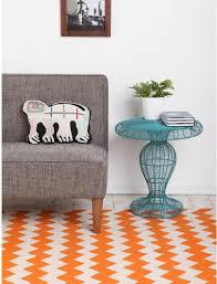 adorable orange chevron rug