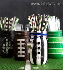 mason jar craft ideas for super bowl party referee mason jar for game day or