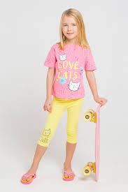 <b>Бриджи</b> для девочки, артикул: К 4646, цвет: бледный лимон ...