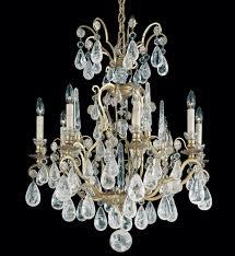 schonbek 2471 47 versailles rock crystal 8 light antique pewter chandelier undefined