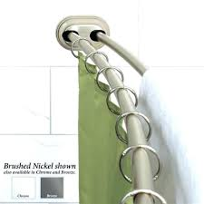 brushed nickel shower curtain rod curved double shower rod double curved tension shower curtain rod brushed
