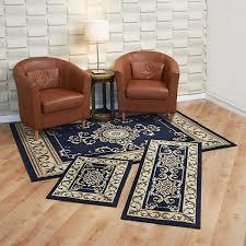 3 piece rug set blue