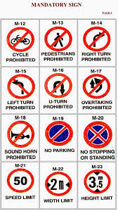 Road Signs Chart India What When Why How Rto Learners Licence Traffic Signs