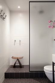 frosted glass shower partition modern