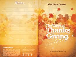 Church Program Template The Value Of Thanksgiving Church Bulletin Template By Mark Taylor