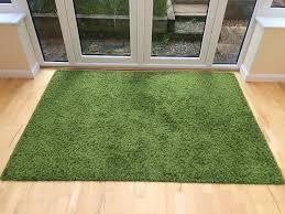rug for living room ikea hampen 133x195cm green