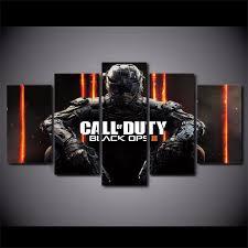 5 <b>Piece</b> Canvas Art <b>HD Print</b> Call of Duty Black Ops <b>3</b> Game Poster ...