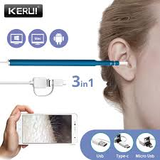 Kerui <b>3</b> in 1 USB OTG Visual <b>Ear Cleaning Endoscope</b> Spoon ...