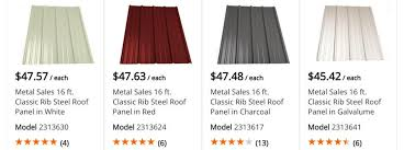 metal roofing s at lowe s home depot corrugated