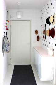 Small Entryway Simple Design For Entryway Paint Color With Long Drak Carpet On