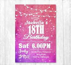 Design Your Own 18th Birthday Invitations 18th Birthday Invitation Female Party Invite Printed